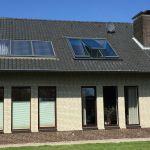 Panoramafenster aussen mit geöffneten Fenster