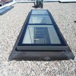 Modulares Oberlicht auf Flachdach mit Blick ins Innere
