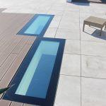 SkyVision WALK ON - begehbare Terrassenverglasung von Aussen in Nahaufnahme