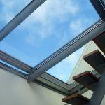 Dachschiebefenster DS - dreiteilig mit Zugang zur Dachterrasse
