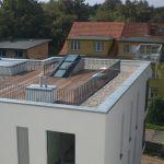 Dachschiebefenster DS - dreiteilig Aussenaufnahme auf Dachterrasse
