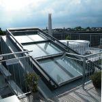 Dachschiebefenster DS - dreiteilig auf Dachterrasse