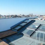 Dachschiebefenster DS - zweiteilig auf Flachdach