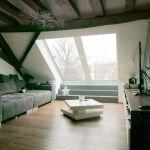 Dachschiebefenster LI - einflügelig Innenansicht geschlossenes Fenster
