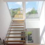 Dachschiebefenster LI - einflügelig Dachterrassenausstieg innenansicht