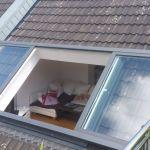 Dachschiebefenster LI - zweiflügelig - Atelierfenster Aussenansicht geöffnet