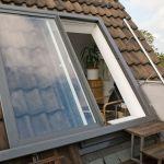 Dachschiebefenster LI - einflügelig - als Dachterrassenausstieg