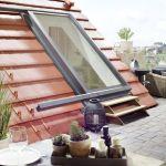 Dachschiebefenster LI - einflügelig . Dachterrrassenausstieg