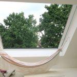 Dachschiebefenster LI - zweiflügel-dachschiebefenster - platz genug um eine Hängematte zu befestigen