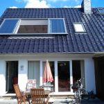 Dachschiebefenster LI - zweiflügel dachschiebefenster - offen aussenansicht